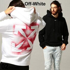 オフホワイト メンズ OFF-WHITE パーカー スウェット バックプリント ステンシル STENCIL SLIM ブランド トップス プルパーカー ロゴ プリント スエット OWBB34E20FLE004