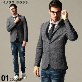 ヒューゴボス メンズ ジャケット HUGO BOSS バスケット編み シングル 2ツ釦 SLIM FIT ブランド テーラード シングル コットン HBNORWI10227012 SALE_2_c