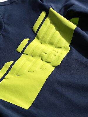 ネオンプリントクルーネック長袖Tシャツ