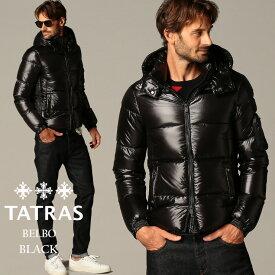 タトラス メンズ ダウンジャケット TATRAS ナイロン フード パーカー ベルボ BELBO BLACK 黒 ブランド アウター ブルゾン TRMTAT20A4562