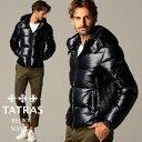 タトラス メンズ ダウンジャケット TATRAS ナイロン フード パーカー ベルボ BELBO NAVY 紺 ブランド アウター ブルゾ…