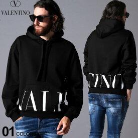 ヴァレンティノ メンズ パーカー スウェット Valentino ロゴ プリント フード プルオーバー ブランド トップス プルパーカー 裏毛 スエット VLUV3MF15N6M1 SALE_1_e