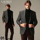 ローレン ラルフローレン メンズ ジャケット LAUREN RALPH LAUREN ウール グレンチェック シングル 2ツ釦 ULTRAFLEX ブランド テーラード RLLETO2P10027