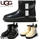 アグ オーストラリア レディース ブーツ UGG Australia ロゴ 防水 クリア シープスキン ボア CLASSIC CLEAR MINI ブランド クラシックミニ 靴 レインブーツ UGGL