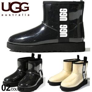 アグ オーストラリア レディース ブーツ UGG Australia ロゴ 防水 クリア シープスキン ボア CLASSIC CLEAR MINI ブランド クラシックミニ 靴 レインブーツ UGGL1113190
