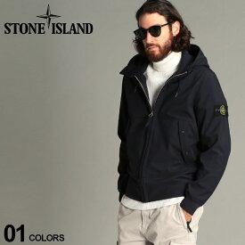 ストーンアイランド メンズ シェルジャケット STONE ISLAND マウンテンパーカー ロゴ フード ソフトシェル ブルゾン ブランド アウター パーカー SI7315Q0122