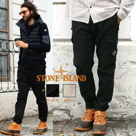 ストーンアイランド メンズ カーゴパンツ STONE ISLAND ストレッチ ロゴ ジョガーパンツ ブランド ボトムス パンツ ロングパンツ コットン SI7315314L1 SALE_3_a