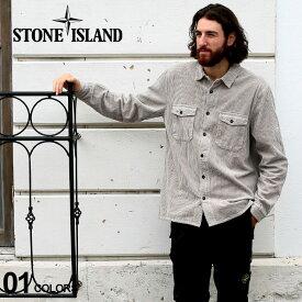 ストーンアイランド メンズ シャツ 長袖 STONE ISLAND 綿100% コーデュロイ ブランド トップス コットン ポケット ロゴ SI731512111 SALE_1_c