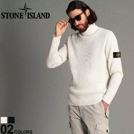 ストーンアイランド メンズ ニット STONE ISLAND セーター ウール100% リブニット タートルネック ブランド トップス ウール タートル ハイネック SI7315522C2 SALE_1_f