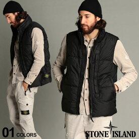 ストーンアイランド メンズ STONE ISLAND ナイロン スタンド フード収納 フルジップ ダウンベスト ブランド アウター トップス ベスト ジレ ダウン パーカー SI7315G0123 SALE_2_a