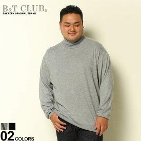 大きいサイズ メンズ B&T CLUB (ビーアンドティークラブ) カシミヤ混 無地 タートルネック 長袖 セーター セーター ニット 無地 カシミヤ 秋 冬 カシミア シンプル ベーシック きれいめ 6086596