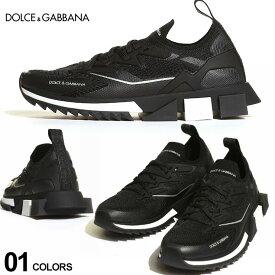 ドルチェ&ガッバーナ メンズ スニーカー DOLCE&GABBANA ドルガバ ストレッチ メッシュ ソレント ブランド 靴 スニーカー メッシュ ロゴ 黒 DGCS1822AW476 SALE_4_a