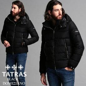 タトラス メンズ ダウンジャケット TATRAS シルク ウール フード ダウン DOMIZIANO ドミッツィアーノ BLACK ブランド アウター ブルゾン パーカー TRMTAT20A4289