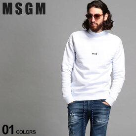 MSGM メンズ トレーナー エムエスジーエム スウェット モックネック ロゴ タートルネック MICROLOGO ブランド トップス スエット MS2940MM108 SALE_1_e