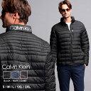 カルバンクライン メンズ 中綿ジャケット Calvin Klein CK パッカブル スタンドカラー ライト ブルゾン ロゴ ブランド アウター CKCM053900