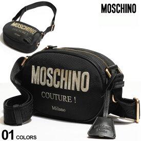 モスキーノ レディース バッグ MOSCHINO ゴールドロゴ ジップ開き ショルダーバッグ ブランド 鞄 ミニバッグ MHL74198205