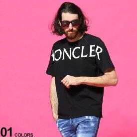モンクレール メンズ Tシャツ MONCLER ロゴ プリント クルーネック 半袖 ブランド トップス ラグラン コットン MC8C7C510829H8