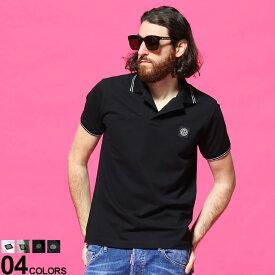 ストーンアイランド メンズ ポロシャツ STONE ISLAND ロゴ ライン 半袖 鹿の子 ブランド トップス コットン SI101522S18