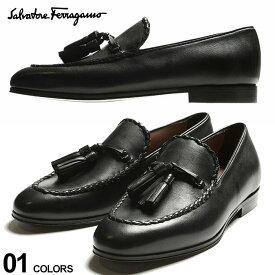 サルヴァトーレフェラガモ メンズ ローファー Salvatore Ferragamo レザー タッセル モカシン PATRICK BLACK ブランド メンズ シューズ 革靴 FG020065741524 SALE_4_b