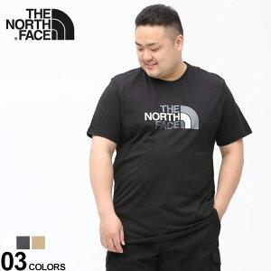 大きいサイズ メンズ THE NORTH FACE (ザ ノースフェイス) 綿100% ロゴプリント クルーネック 半袖 Tシャツ Easy Tee-Eu Tシャツ クルー 半袖 プリント 春 夏 コットン スポーツ NF0A2TX3D22