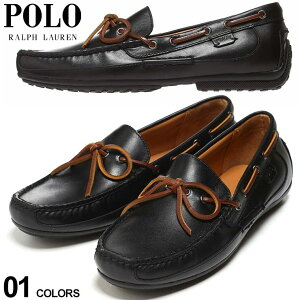 ポロ ラルフローレン メンズ デッキシューズ POLO RALPH LAUREN レザー ドライビングシューズ 黒 ブランド シューズ 靴 ローファー モカシン 本革 RL803730083001