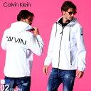 カルバンクライン メンズ ナイロンジャケット Calvin Klein ロゴ バックプリント フード ナイロンパーカー ブランド …