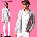 エンポリオアルマーニ メンズ ジャケット EMPORIO ARMANI ストライプ シングル 2ツ釦 ニットジャケット ブランド テー…