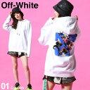 オフホワイト レディース OFF-WHITE ロゴ フラワー バックプリント プルオーバー パーカー FLOWER ブランド トップス …
