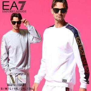 エンポリオアルマーニ EA7 メンズ EMPORIO ARMANI トレーナー スウェット ロゴ テープ グラデーション ブランド トップス スエット EA3KPM34PJ05Z