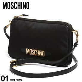モスキーノ レディース バッグ MOSCHINO ロゴ ジップ ショルダーバッグ ブランド 鞄 ミニショルダー コンパクト MHL74188202