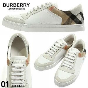 バーバリー メンズ スニーカー BURBERRY レザー スエード ハウスチェック ローカット ブランド 靴 白スニーカー BB8024125 2021AW