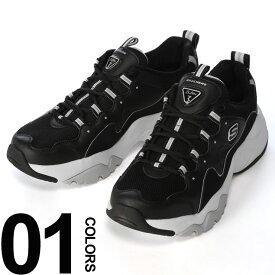 大きいサイズ メンズ SKECHERS (スケッチャーズ) レザー×メッシュ スニーカー DLITES3 ファッション カジュアル シューズ スポーツ ストリート クッション BT999878