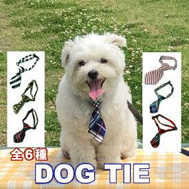 送料無料 / アクセサリー 犬用 ネクタイ ショートタイ DOG TIE 全6種 / チェック ヒョウ柄 ストライプ おしゃれ かわいい 洋服 / 小型犬 中型犬