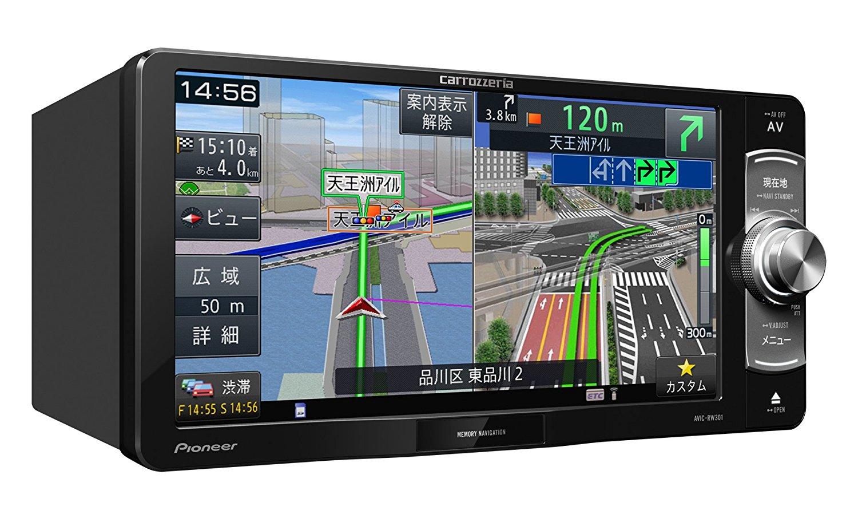 パイオニア 7V型ワイドVGAワンセグTV/DVD-V/CD/SD/チューナー・DSP AV一体型メモリーナビゲーション AVIC-RW301 4988028384943