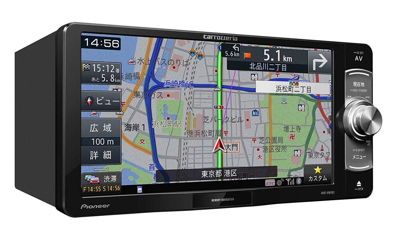 パイオニア 7V型ワイドVGAワンセグTV/DVD-V/CD/Bluetooth/SD/チューナー・DSP AV一体型メモリーナビゲーション AVIC-RW501 4988028384950