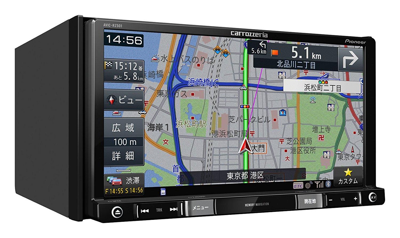 パイオニア 7V型ワイドVGAワンセグTV/DVD-V/CD/Bluetooth/SD/チューナー・DSP AV一体型メモリーナビゲーション AVIC-RZ501 4988028385001