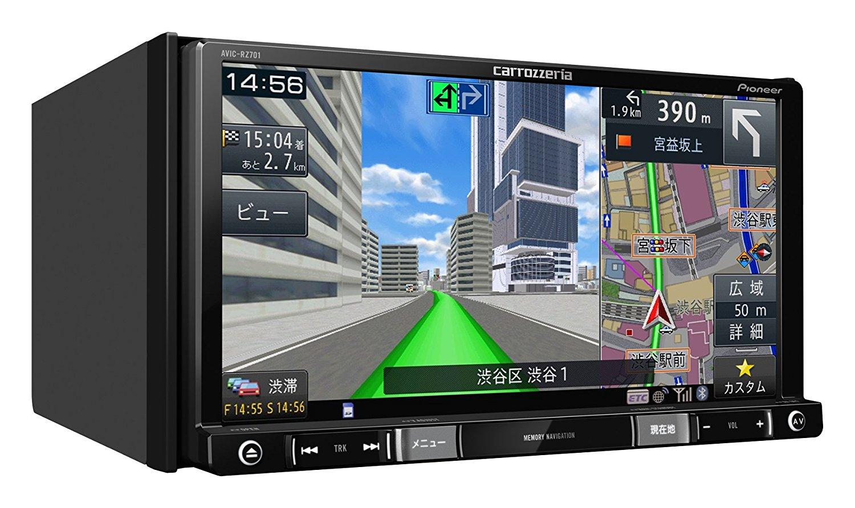パイオニア 7V型ワイドVGA地上デジタルTV/DVD-V/CD/Bluetooth/SD/チューナー・DSP AV一体型メモリーナビゲーション AVIC-RZ701 4988028385018