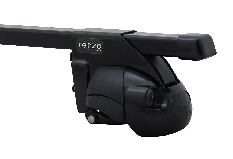 TERZO テルッツォ ベースキャリア1台分SET ミツビシ パジェロジュニア H7.11-H10.5 H57A ルーフレール付車 フット:EF11BL※+バー:EB1