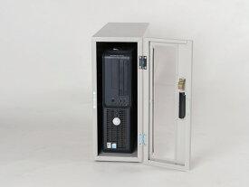 送料無料 防塵ラック PCケース ホコリ 排熱 盗難防止 工場使用可 セイテックス Tidy Box CPU 3UW ライトグレー