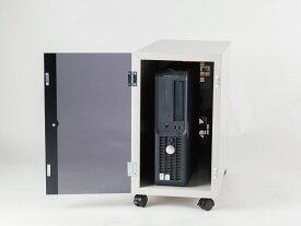 送料無料 防塵ラック PCケース ホコリ 排熱 盗難防止 工場使用可 セイテック Tidy Box CPU W5 ライトグレー