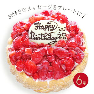 フローズンいちごと生乳アイスクリームのアイスデコレーションケーキ 6号【プレート対応あり】誕生日 バースデー お祝 子供 ストロベリー