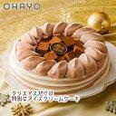 【送料無料 クリスマスケーキ アイスケーキ】オハヨー乳業 生チョコアイスデコレーションケーキ アイスクリームケーキ アイス プレゼント ギフト チョコ
