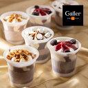 送料無料 お中元 ベルギー王室御用達 Galler(ガレー)監修 チョコレートアイスパルフェ 6個 アイスクリーム パフェ ギフト ブランド お祝 誕生日