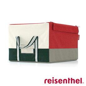 ライゼンタール ストレージボックス(reisenthel)【正規品】storagebox PATCHWORK RED M【収納ボックス】クローゼット 収納 ケース 収納ボックス 布製 折り畳み 折りたたみ フタ付き 蓋付き