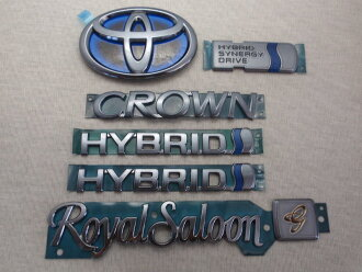 ◇ Toyota 210 series Crown Royal saloon - G hybrid placinavrackemblem, set of 6