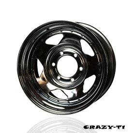 【2本セット価格】【ZERO HOUSE】CRAZY T-1 ハイエース 200系 ホイール 2本セット クロムメッキ ピアスボルト風 16インチ/8J/P.C.D 139.7/INSET ±0 or +13鉄チン 鉄ちん テッチン ホイール てっちん ホイール 鉄 ホイール