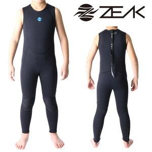 ZEAK(ジーク) ウェットスーツ 子供用 ロングジョン (3mm) ウエットスーツ サーフィン ウエットスーツ ZEAK WETSUITS
