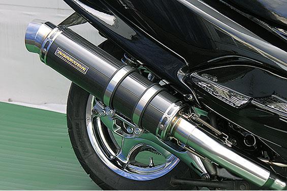 マジェスティ125(MAJESTY) GGタイプマフラー レーシングタイプ ブラックカーボン ASAKURA(浅倉商事)