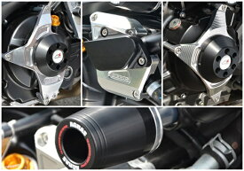 SV650(16年〜) レーシングスライダー フレームφ53+ジェネレーター+クラッチ+ウォーターポンプ ジュラコン/ブラック AGRAS(アグラス)