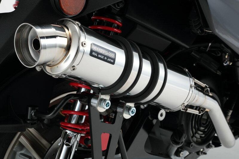 シグナスX SR(CYGNUS-X SR)SEA5J/2BJ-SED8J R-EVO(レーシングエヴォ)マフラー ステンレスサイレンサー 政府認証モデル BEAMS(ビームス)